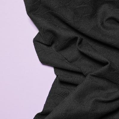Organic Leaf Jacquard - Black