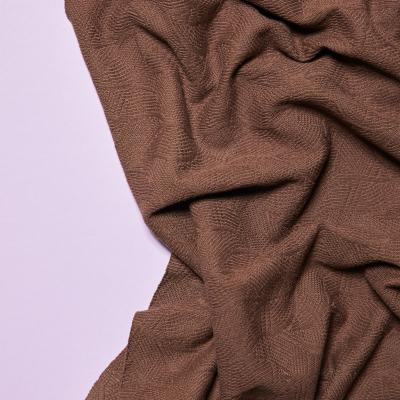 Organic Leaf Jacquard - Dust Brown