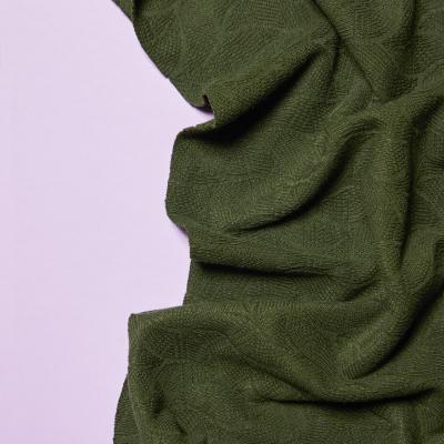 Organic Leaf Jacquard - Green Khaki