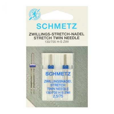 Twin needles 2,5/75 stretch - 2 pcs