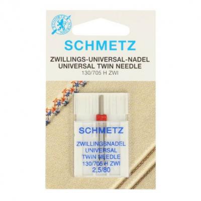 Twin needle 2,5/80 universal - 1 pcs