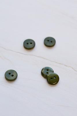 2-hole Corozo Button 11 mm - Green Khaki
