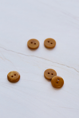 2-hole Corozo Button 11 mm - Gold