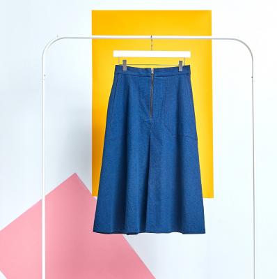 Le 4002 - Flared Skirt Denim Style
