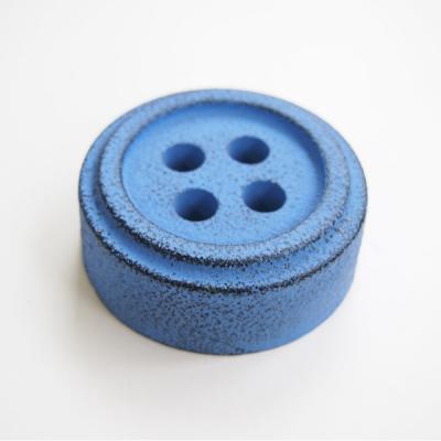 Button paper weight, Blue - stentøj