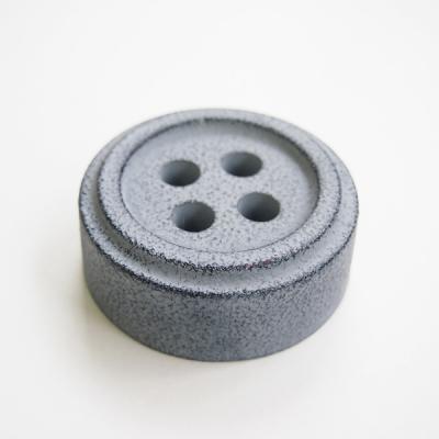 Button paper weight, Grey - stentøj