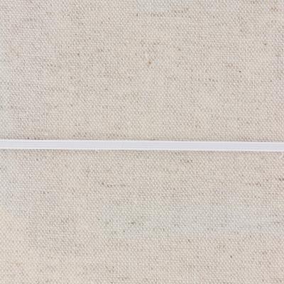 Elastic, White 3 mm