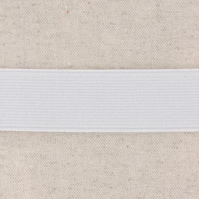 Waistband Elastic, White 30 mm