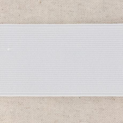 Waistband Elastic, White 50 mm