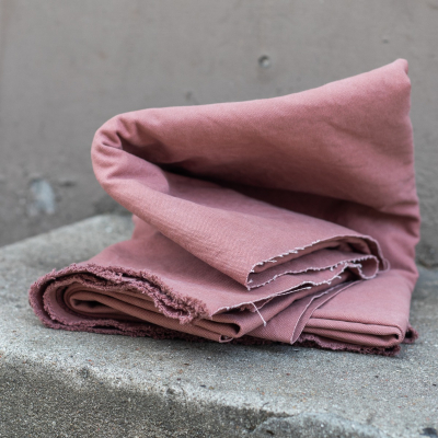 Heavy washed canvas - Pale Pink