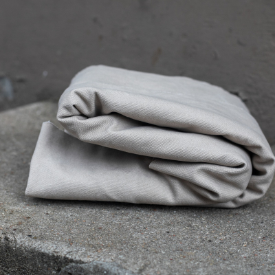 Heavy washed canvas - Grey mist