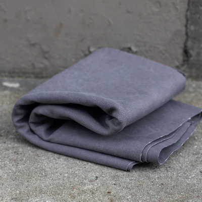 Heavy Washed Canvas - Pewter