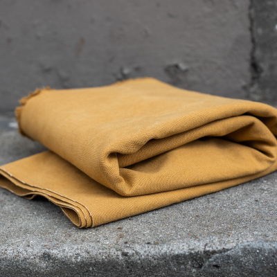 Heavy Washed Canvas - Mustard