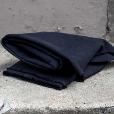 Heavy washed canvas - Black