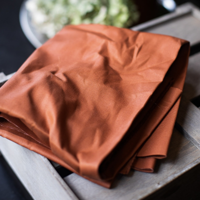 Dry Waxed Organic Cotton - Rust