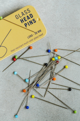 Glass Head Pins - 38 mm