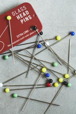 Glass Head Pins - 49 mm