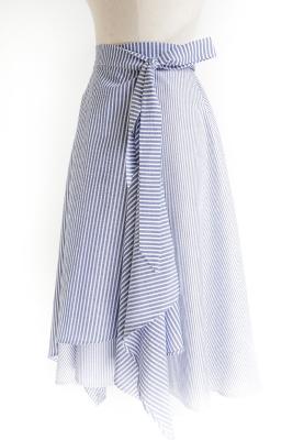 Le_4001 - Asymmetric flared wrap skirt