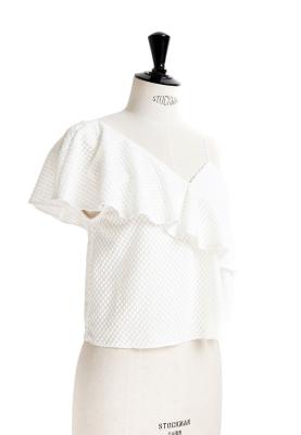 Le 5007 - Asymmetric frill top/dress
