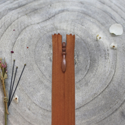 Invisible zipper, 60 cm - Chestnut