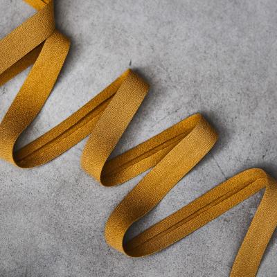 Crispy Crepe Bias tape, 13 mm - Amber