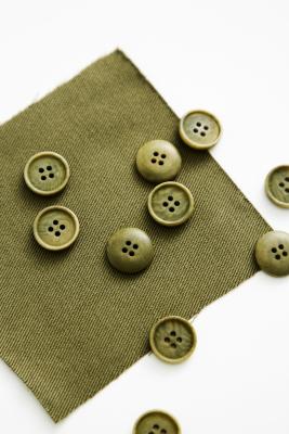 Blaze Corozo Button 15 mm - Olive Green