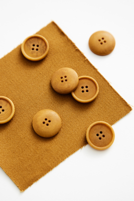 Blaze Corozo Button 20 mm - Dry Mustard