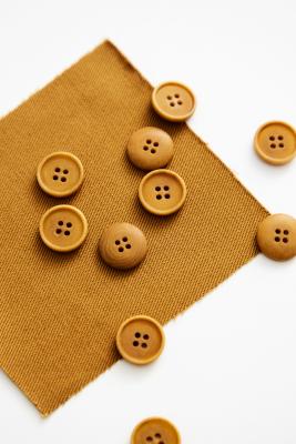 Blaze Corozo Button 15 mm - Dry Mustard
