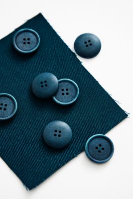 Blaze Corozo Button 20 mm - Ocean