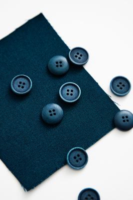 Blaze Corozo Button 15 mm - Ocean