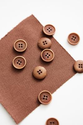 Blaze Corozo Button 15 mm - Old Rose