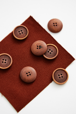 Blaze Corozo Button 20 mm - Sienna