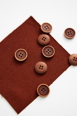 Blaze Corozo Button 15 mm - Sienna