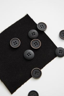 Blaze Corozo Button 15 mm - Black