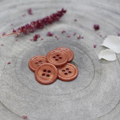 Bliss Button, 11 mm - Chestnut
