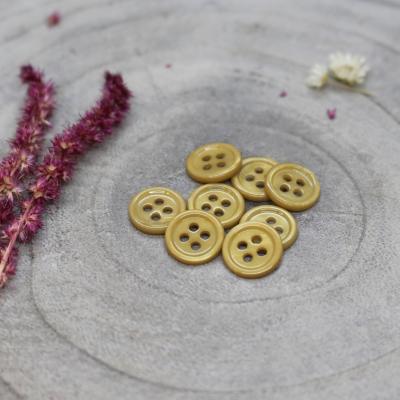Bliss Button, 11 mm - Mustard
