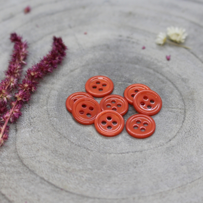 Bliss Button, 11 mm - Tangerine