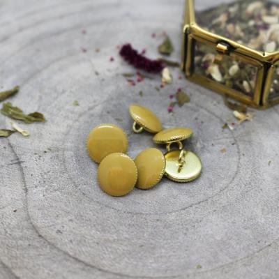 Gem Button, 12 mm - Mustard