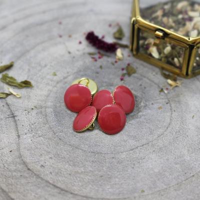 Gem Button, 12 mm - Terracotta