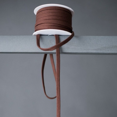 Drawstring webbing, 10 mm - Brown