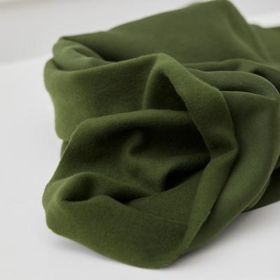 Organic Basic Brushed Sweat - Green Khaki