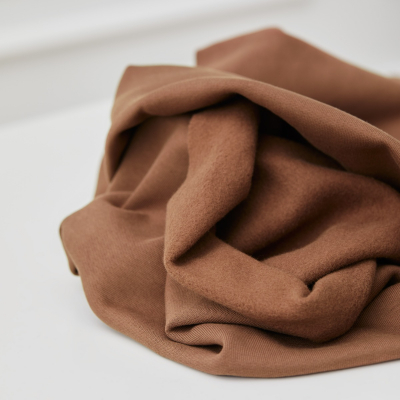 REMNANT 80x180 // Organic Basic Brushed Sweat - Dust Brown