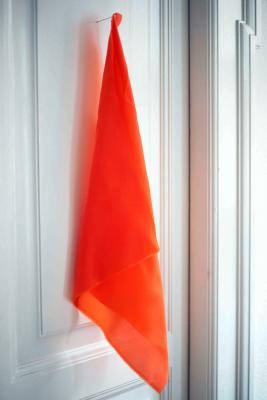 REMNANT 90x140 // Sanded Bemberg Cupro (75g) - Orange