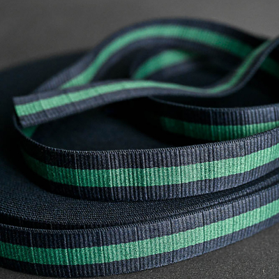 Claremont Webbing, navy/green - 40 mm