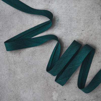 Crispy Crepe Bias tape, 13 mm - Emerald