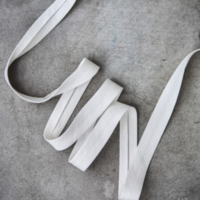 Crispy Crepe Bias tape, 13 mm - Bright White