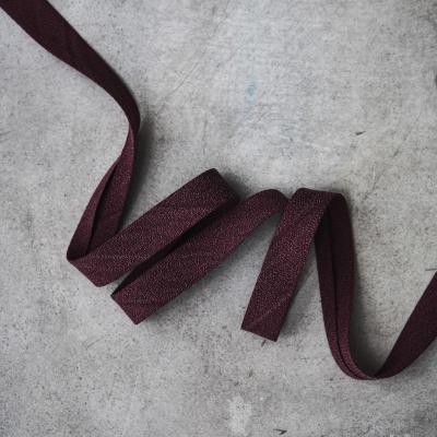 Crispy Crepe Bias tape, 13 mm - Maroon