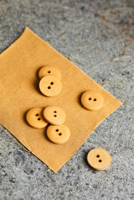 Curb Cotton Button 18 mm - Dry Mustard