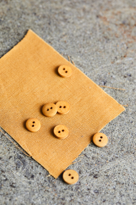 Curb Cotton Button 11 mm - Dry Mustard