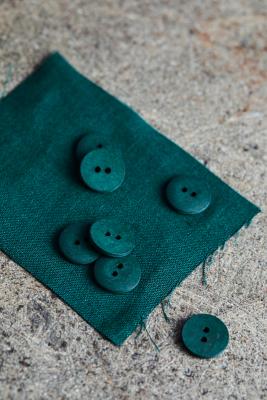 Curb Cotton Button 18 mm - Bottle Green